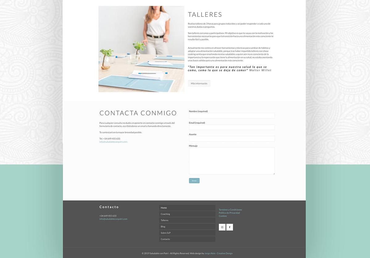diseño web talleres