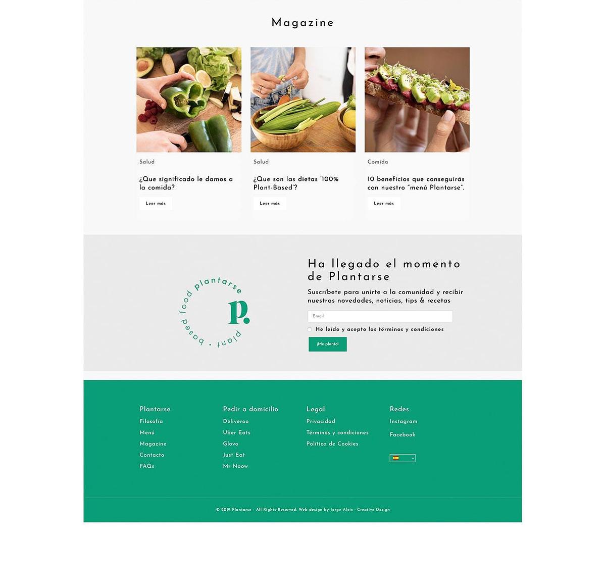 diseño web sección de Magazine