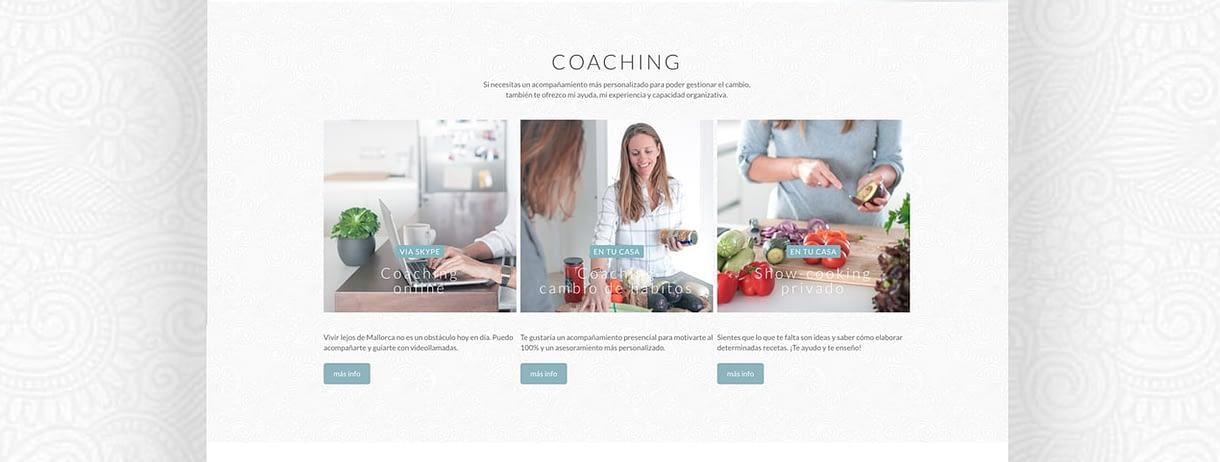 diseño web sección coaching