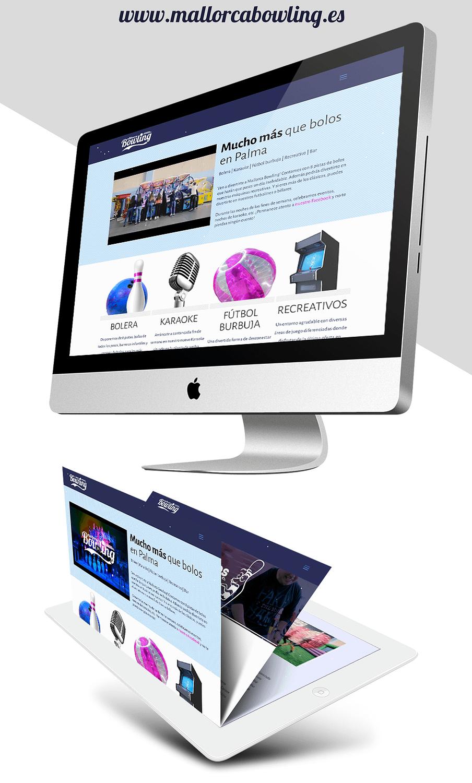 diseño intuitivo de la web Mallorca Bowling