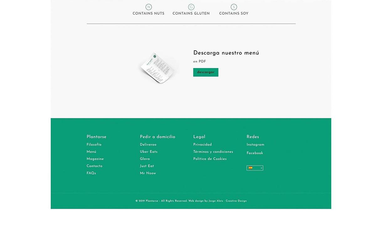diseño web apartado descargar el menu en pdf