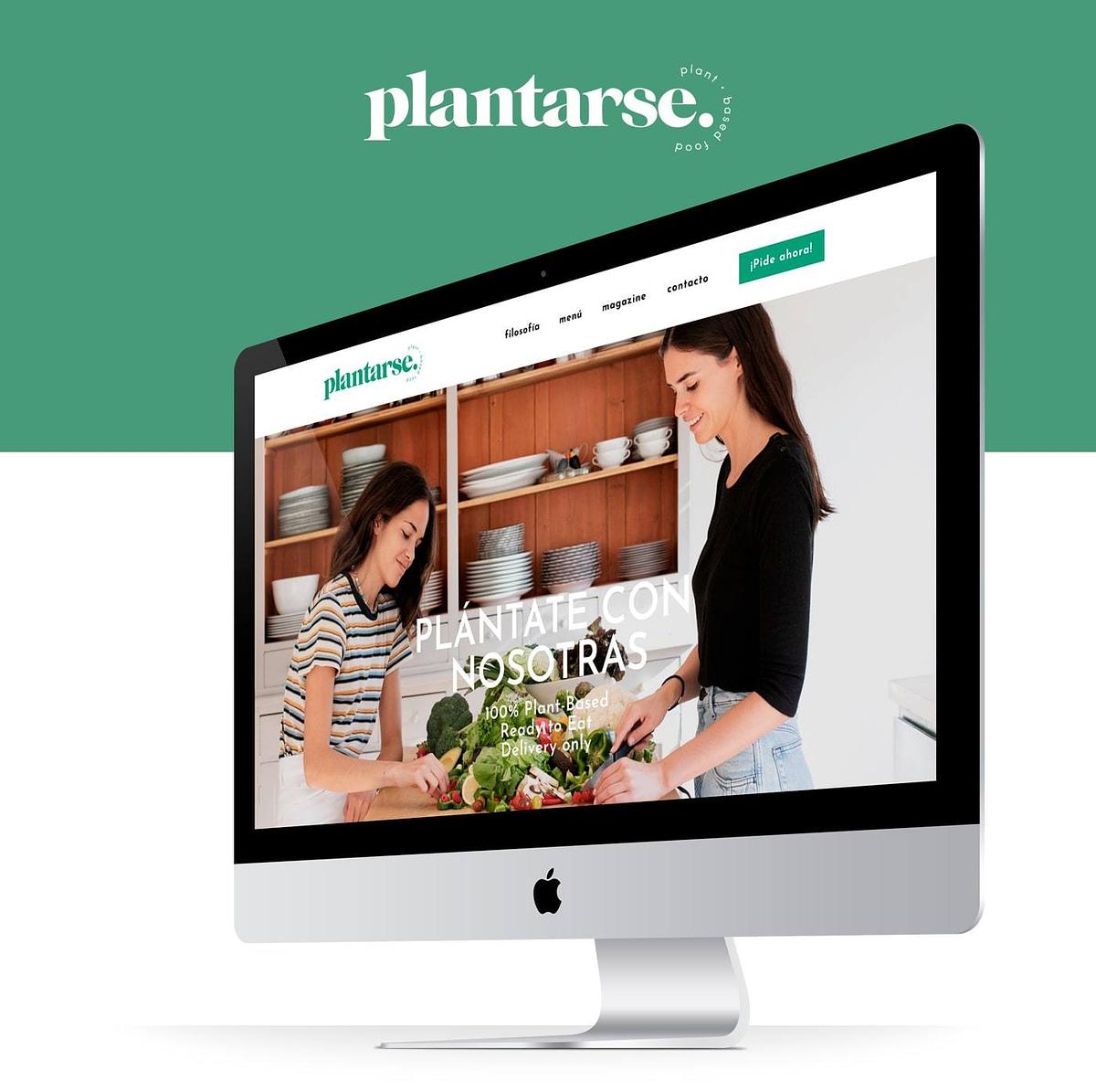diseño web portada de la web de Plantarse